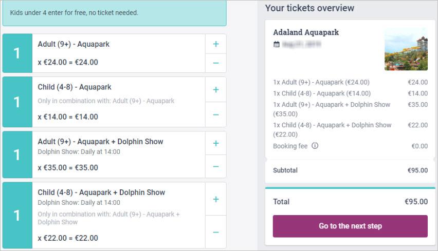 Aquapark Adaland tickets